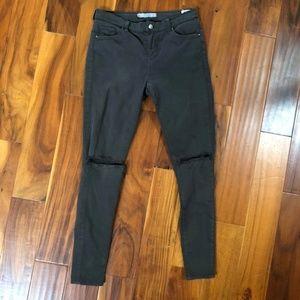 Topshop Moto Leigh Black Jeans 30 x 32